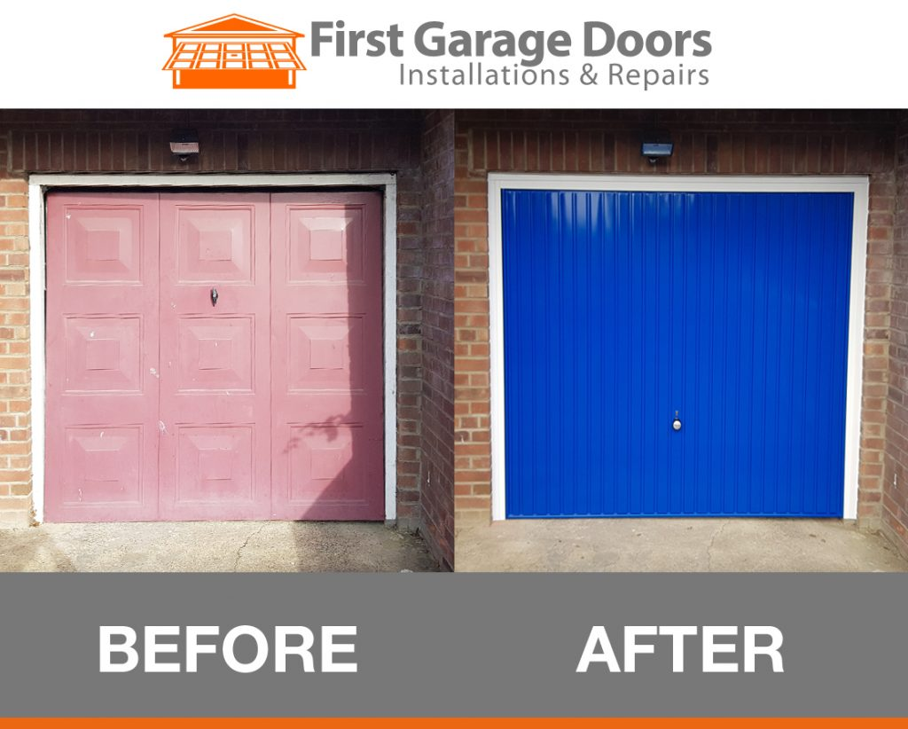 New up and over garage door fitted plus frame first for 10 x 11 garage door